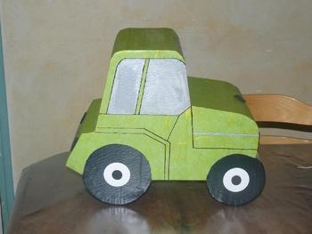 Tracteur urne pour un Anniversaire
