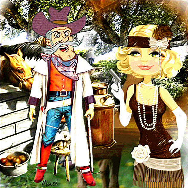 LA BELLE ET LE COW BOY