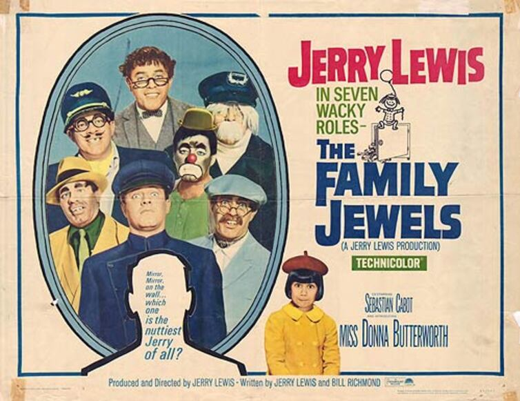 LES TONTONS FARCEURS (The family jewels) - JERRY LEWIS BOX OFFICE 1965