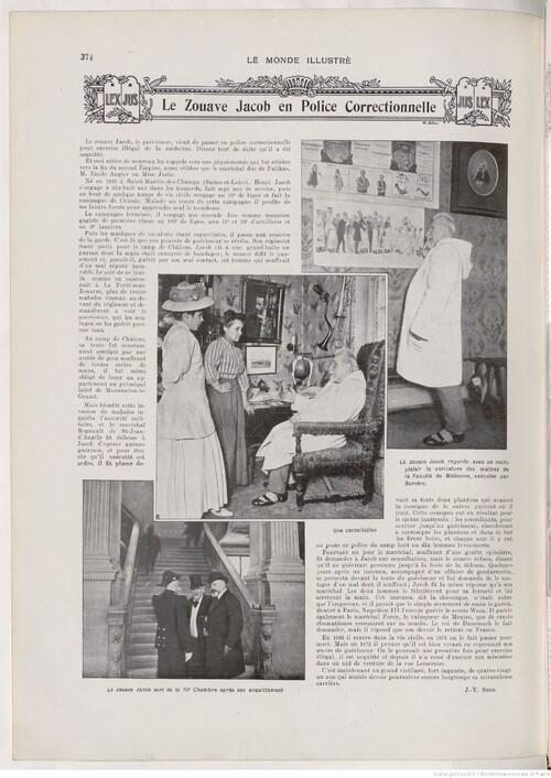 Le Zouave Jacob en Police Correctionnelle (Le Monde illustré, 2 janvier 1909)
