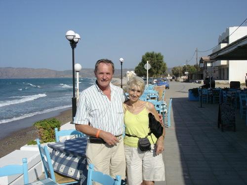 Jacqueline en Crète en 2008