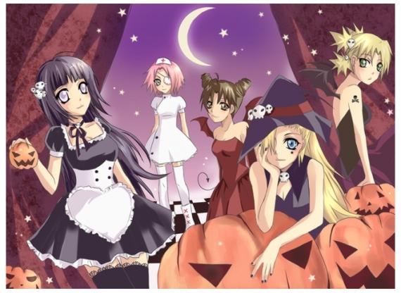 Les filles en déguisement d'halloween