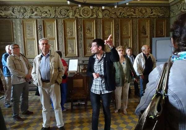 Visite du château d'Ancy le Franc, avec la Société Archéologique et Historique du Châtillonnais