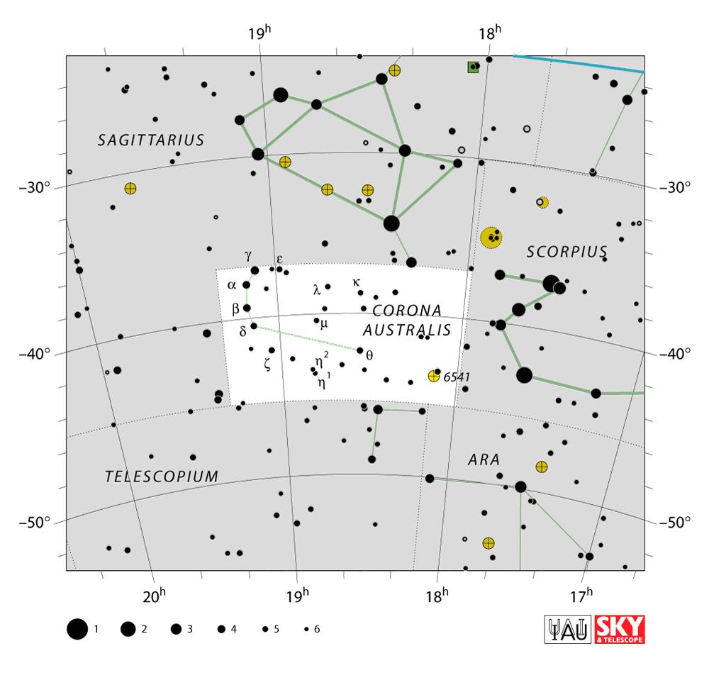 corona australis map