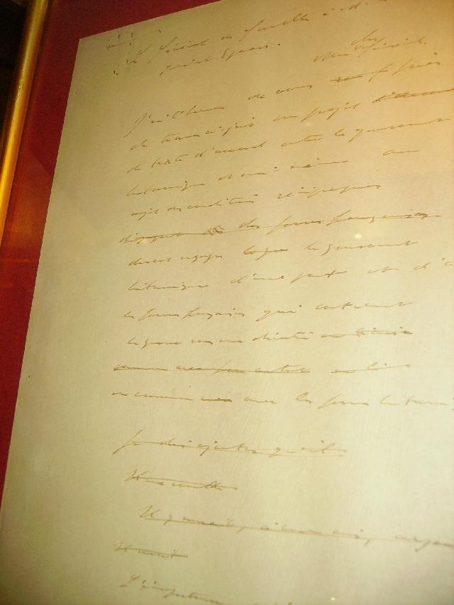une lettre du général De Gaulle