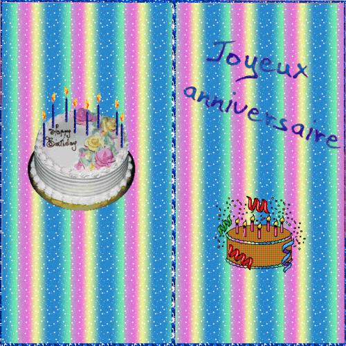 Carte anniversaire gratuite à imprimer.