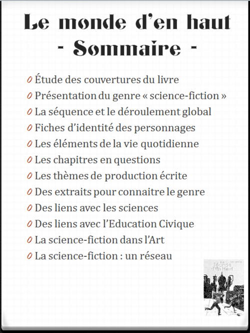 littérature : science-fiction - le Monde d'en Haut - CM