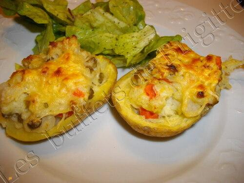 Pommes de terre farcies aux petits légumes