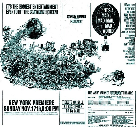 IT'S A MAD MAD MAD MAD WORLD BOX OFFICE 1963