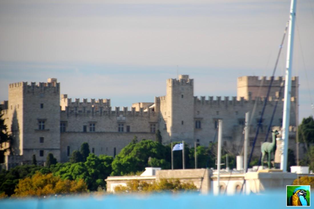 RHODES octobre 2018 : En partant du port de Rhodes