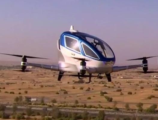 Taxi volant : premier vol avec passagers… mais sans pilote !