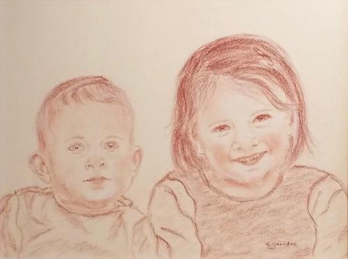 Portraits à la sanguine