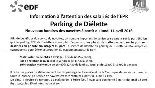 11 avril: Le stationnement sur le port de Diélette devrait être réservé aux usagers!