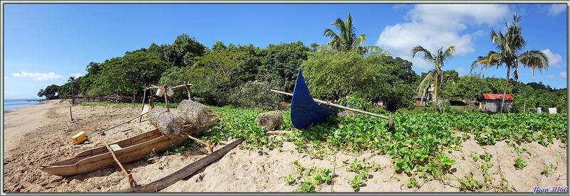 Vues de la plage du Manga Soa Lodge - Nosy Be - Madagascar
