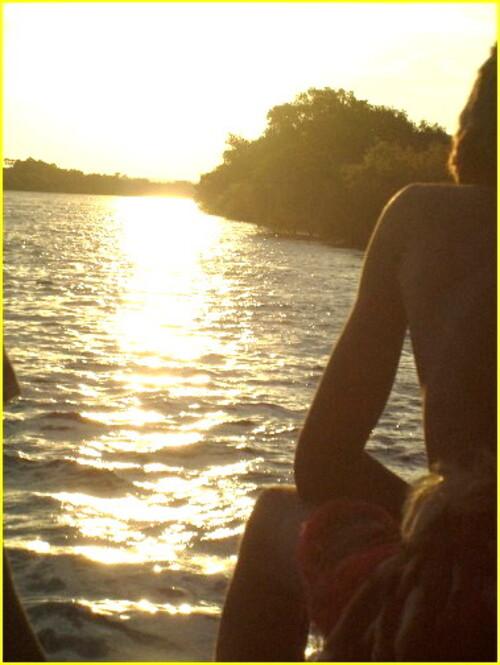 Coucher de soleil,sur le Zambèze