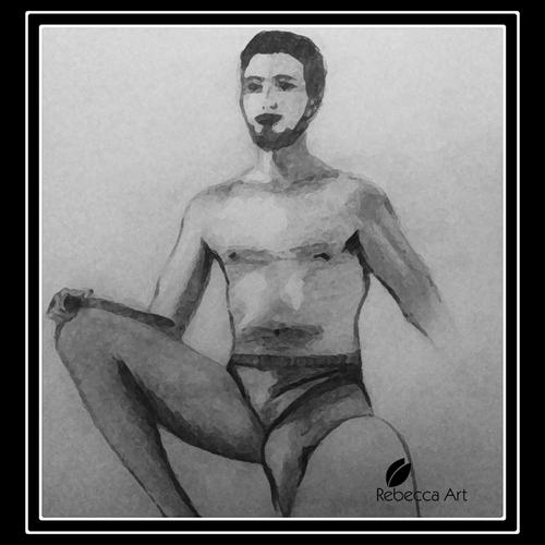 Nude (Watercolour Pencil) / Nu (Crayons-Aquarelle)