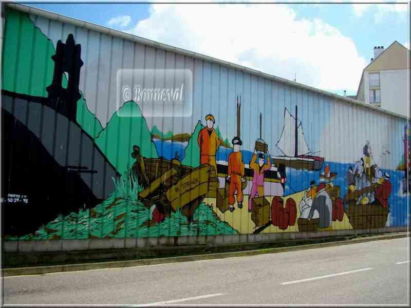 * Finistère * fresque sur un entrepôt frigorifique Douarnenez