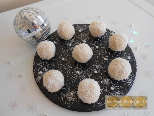 Truffes blanches coco