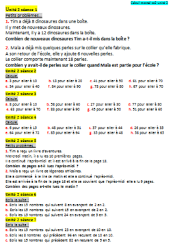 Calcul mental Cap maths CE2
