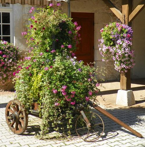 Fenêtres et terrasses fleuries