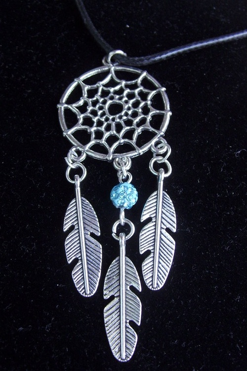collier plume et sa turquoise