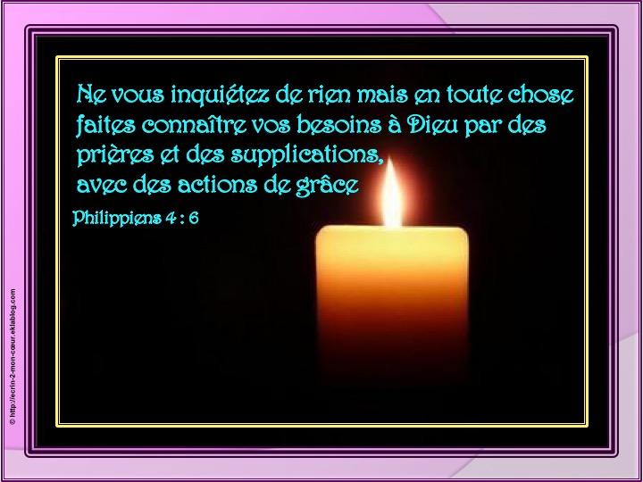Ne vous inquiétez de rien - Philippiens 4 : 6