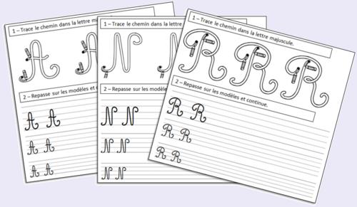 Apprendre à écrire les lettres majuscules