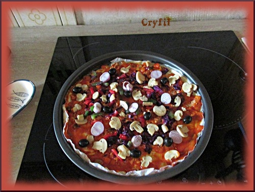 Pizza catalane façon cryfil