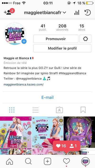 Retrouve Maggie et Bianca sur Instagram !