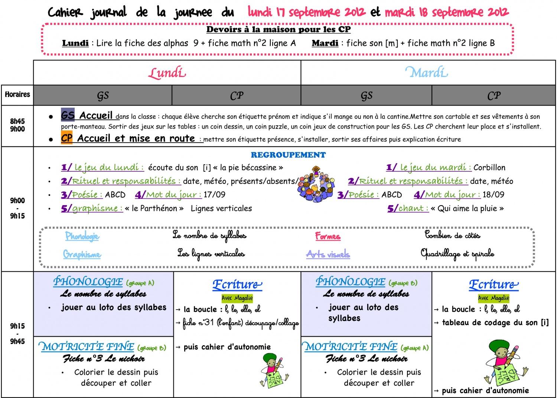 Souvent Cahier journal - (page 2) - La classe de Luccia ! GF71