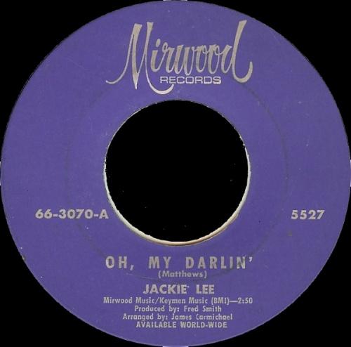 Jackie Lee : Oh My Darlin'