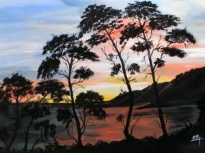 coucher soleil sur mer-300x224