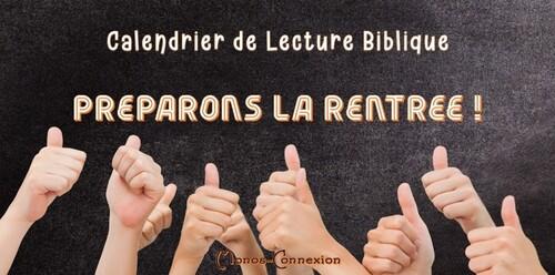 Calendrier Biblique - La Rentrée (Jours 29 à 30)