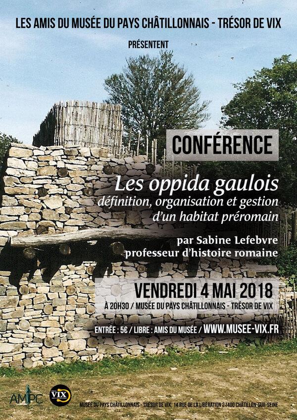 Une conférence sur les oppida gaulois aura lieu le 4 mai au Musée du Pays Châtillonnais-Trésor de Vix