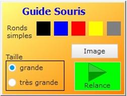 Guide souris : un cercle de couleur autour du curseur de la souris