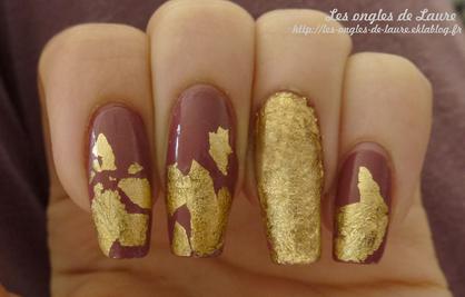 Nail Art de luxe [feuilles d'or]