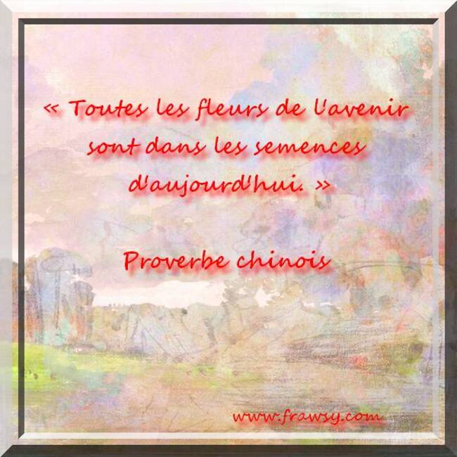Citations et Proverbes 3:  Proverbe chinois