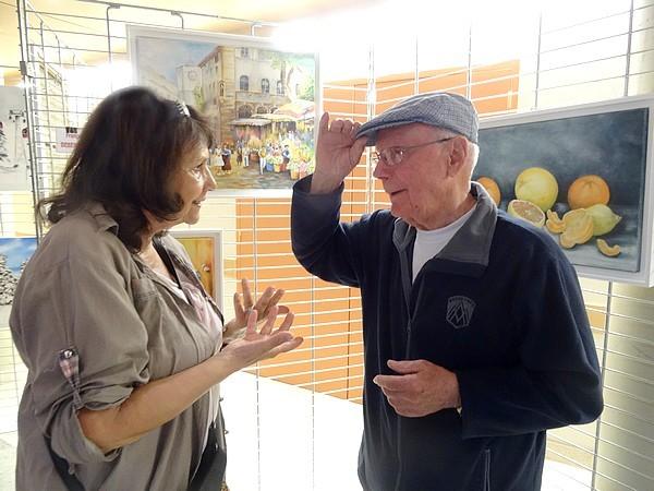 Le 7ème salon des Peintres des Amis du Châtillonnais a ouvert ses portes avec André Lagarde comme invité d'honneur....