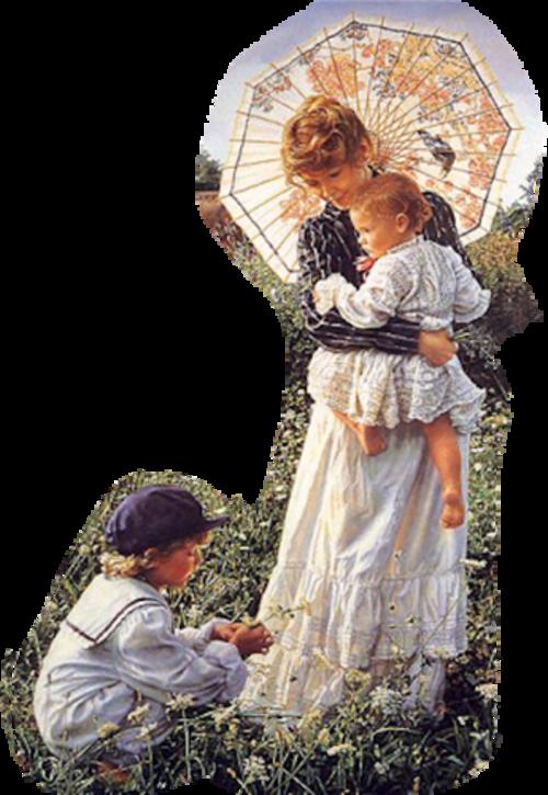 Maman   ou mamie avec enfant