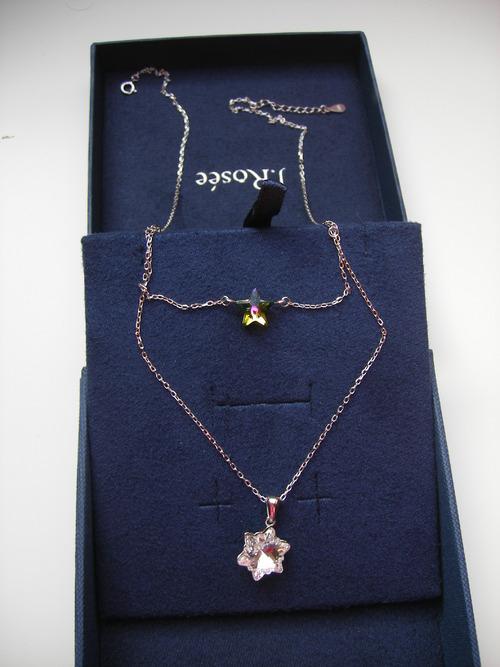 J.Rosée collier double Swarovski