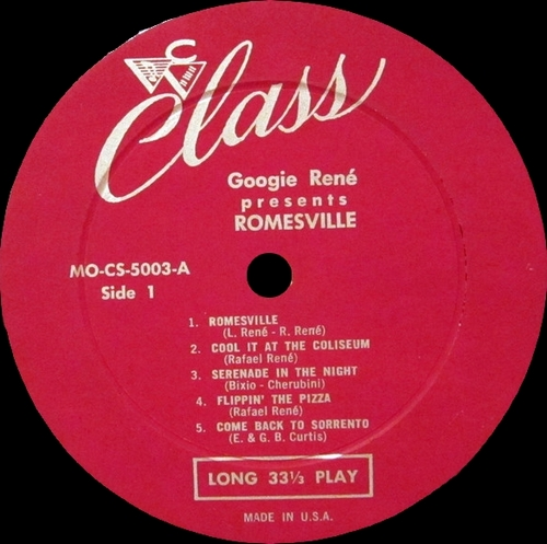 "Googie René : Album "" Romesville ! "" Class Records MO-CS-5003 [ US ]"