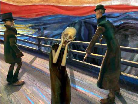 """Dessin et peinture - vidéo 1911 : Une oeuvre expliquée de Edvard Munch (1863-1944) - """"Le cri"""" 1893 - Une démonstration à l'acrylique (étape par étape)."""