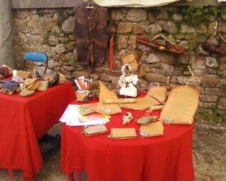 Mon échope, au marché de Bugarach, Aude.