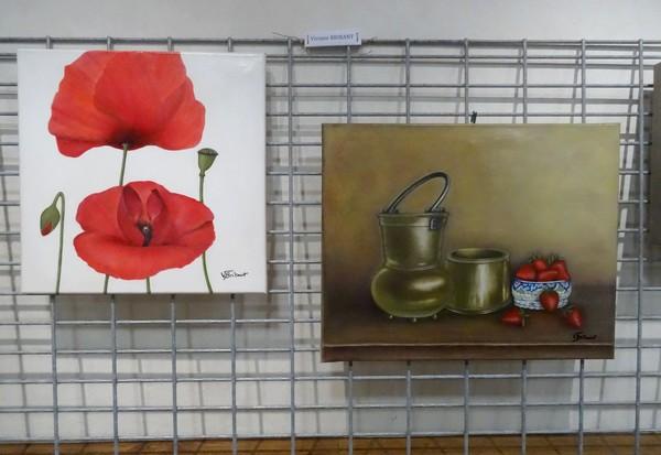 Les peintres de la MJC de Sainte Colombe sur Seine ont présenté de bien beaux tableaux lors de  leur exposition 2016