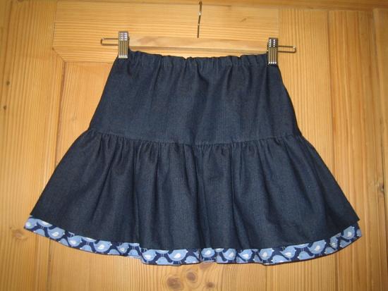 jupe plissée en jean