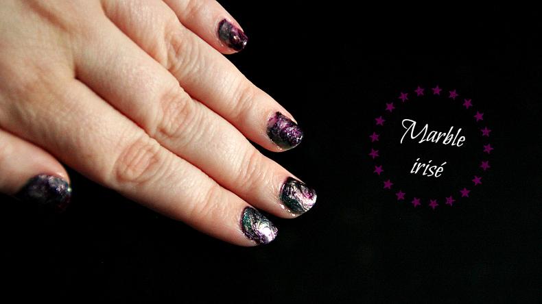Nail art irisé : le marble testé avec l'Uber Mat