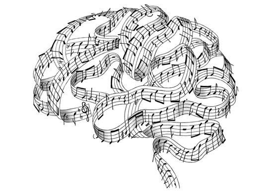 cerveau notes de musique