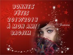 BONNES FETES FIN ANNEE 2017