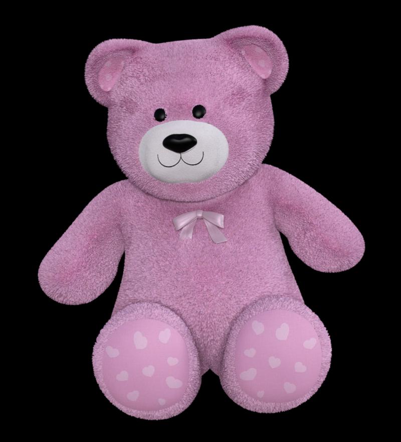 Tube d'ours en peluche rose (render-image)