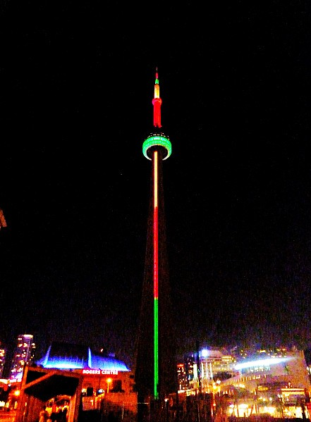 Toronto CN Tower nuit